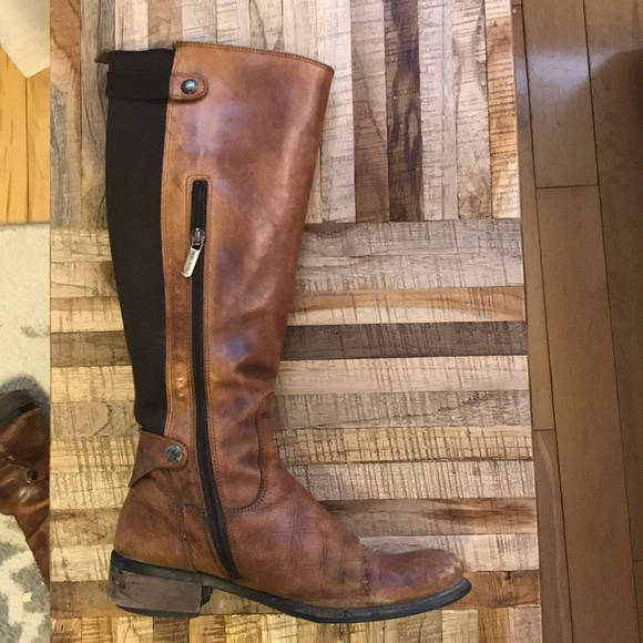 Ron White Shoes - Ron White brown knee high riding boots